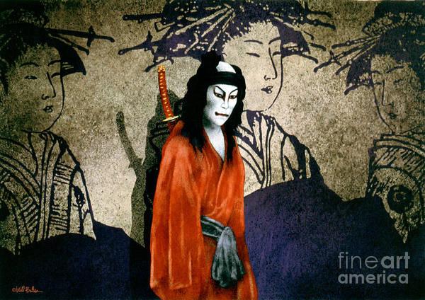 Samurai Painting - The Scarlet Samurai... by Will Bullas