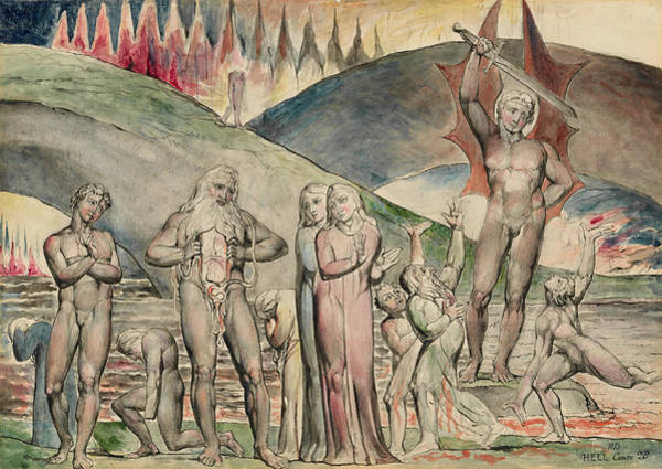 Painting - The Schismatics And Sowers Of Discord- Mahomet  by William Blake