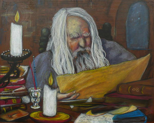 Painting - The Scholar by Todd  Peterson