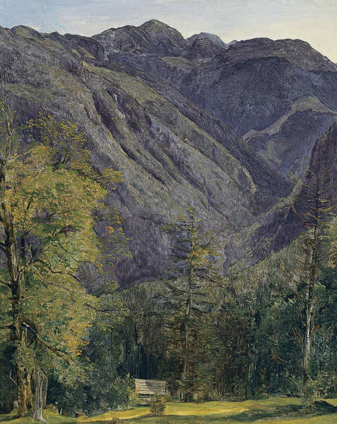 Painting - The Schonberg Seen From Hoisernradalpe by Ferdinand Georg Waldmuller