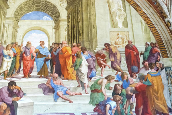 Apostolic Palace Photograph - The School Of Athens By Raphael In Apostolic Palace In Vatican C by Marek Poplawski