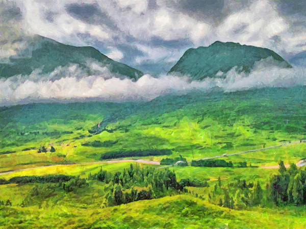 Digital Art - The Scottish Highlands by Digital Photographic Arts