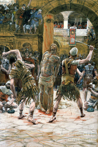 Wounded Soldier Painting - The Scourging by Tissot
