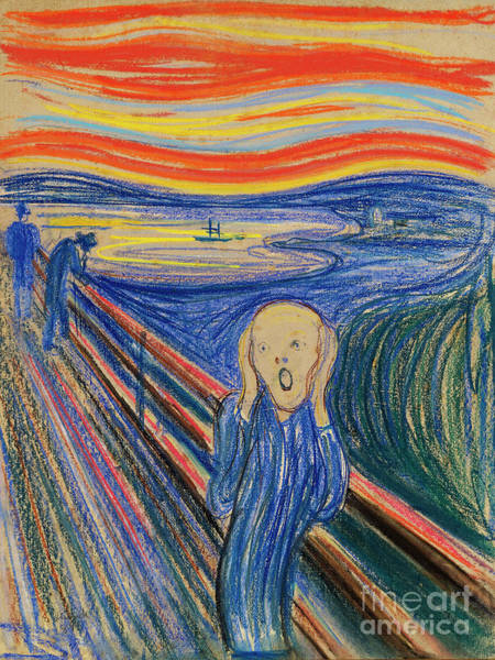 Subjective Wall Art - Painting - The Scream 1895 By Edvard Munch by Art Anthology
