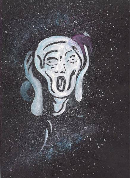 Digital Art - The Scream by Darren Cannell