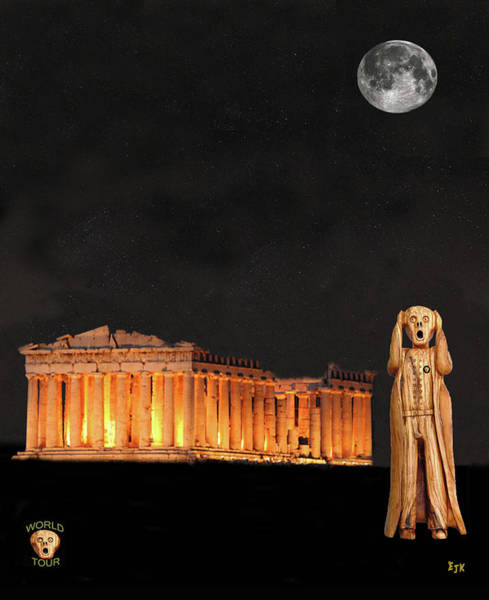 Mixed Media - The Scream World Tour Athens by Eric Kempson
