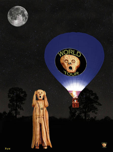 Mixed Media - The Scream World Tour  Ballooning  by Eric Kempson