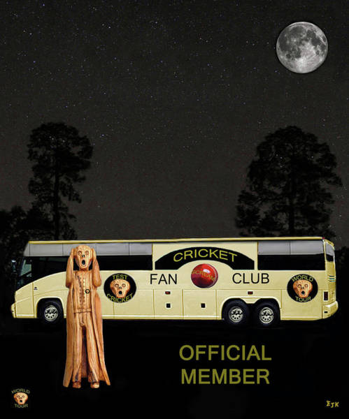 Wales Mixed Media - The Scream World Tour Cricket  Tour Bus by Eric Kempson
