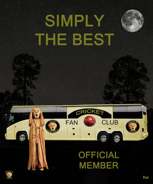 Wales Mixed Media - The Scream World Tour Cricket  Tour Bus Simply The Best by Eric Kempson