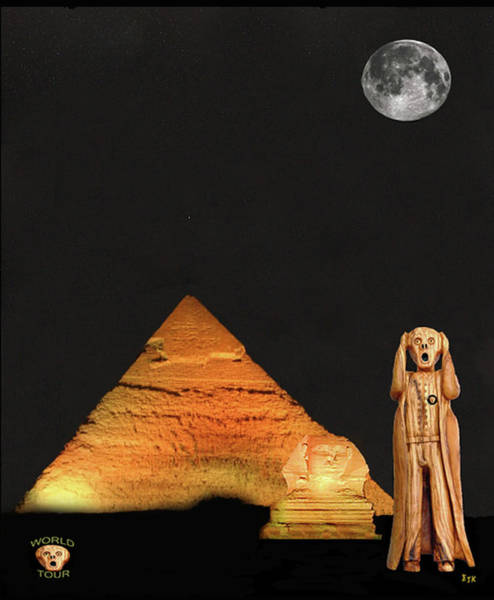 Antiquities Mixed Media - The Scream World Tour Egypt by Eric Kempson