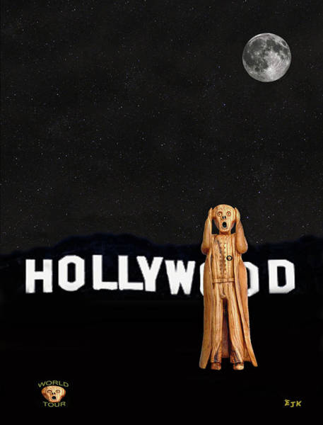 Mixed Media - The Scream World Tour Hollywood by Eric Kempson