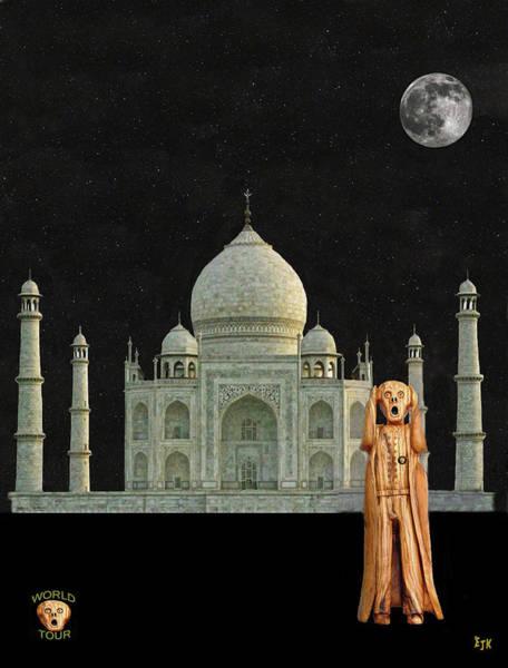 Mixed Media - The Scream World Tour India Taj Mahal by Eric Kempson