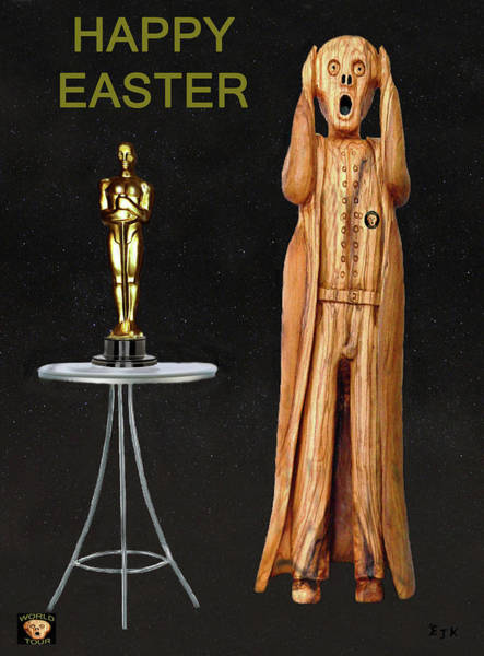 Mixed Media - The Scream World Tour Oscars Happy Easter by Eric Kempson