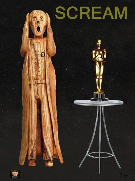 Mixed Media - The Scream World Tour Oscars Scream by Eric Kempson