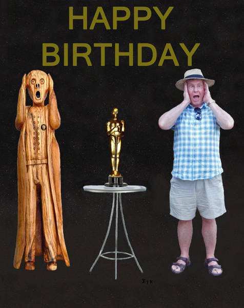 Mixed Media - The Scream World Tour Oscars With Peter Beddoes Birthday by Eric Kempson