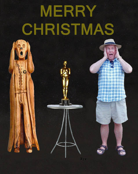 Mixed Media - The Scream World Tour Oscars With Peter Beddoes Christmas by Eric Kempson