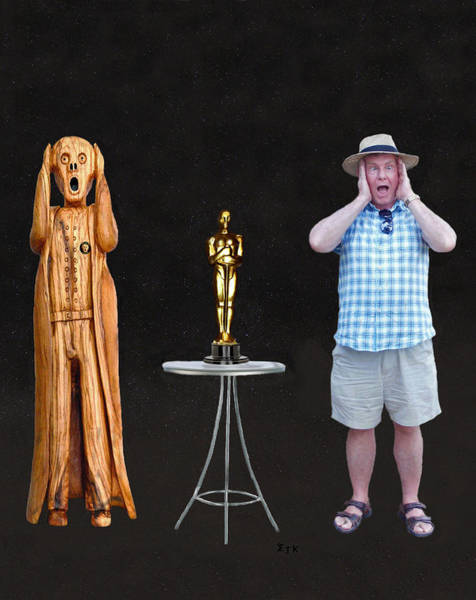 Mixed Media - The Scream World Tour Oscars With Peter Beddoes by Eric Kempson