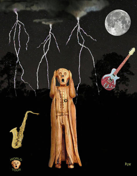 Mixed Media - The Scream World Tour  Scream Rocks by Eric Kempson