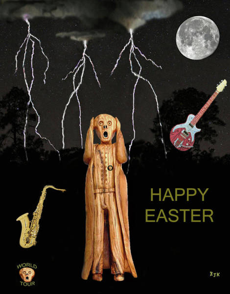 Mixed Media - The Scream World Tour  Scream Rocks Happy Easter by Eric Kempson