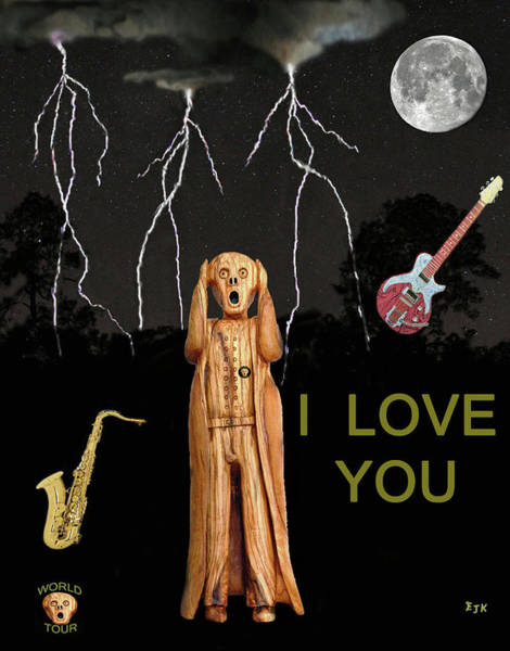Mixed Media - The Scream World Tour  Scream Rocks I Love You by Eric Kempson