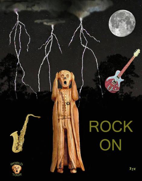 Mixed Media - The Scream World Tour  Scream Rocks Rock On by Eric Kempson