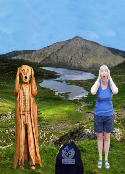 Mixed Media - The Scream World Tour Snowdon With Jill Beddoes by Eric Kempson