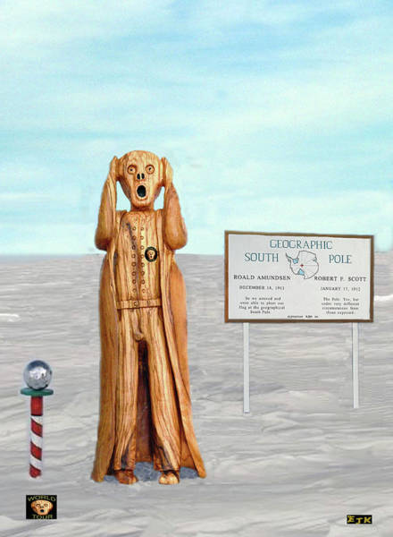 Mixed Media - The Scream World Tour South Pole by Eric Kempson