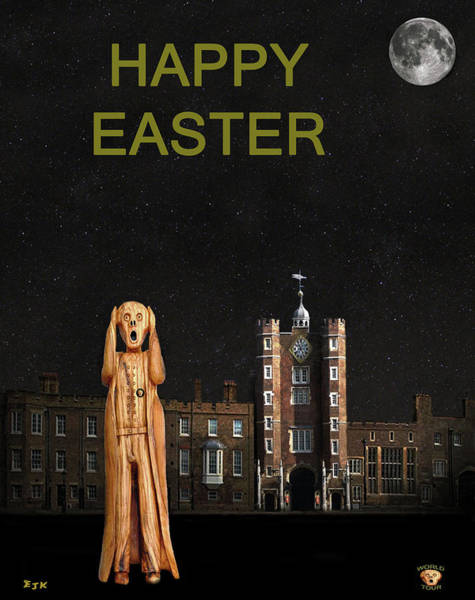 Mixed Media - The Scream World Tour St James's Palace Happy Easter by Eric Kempson