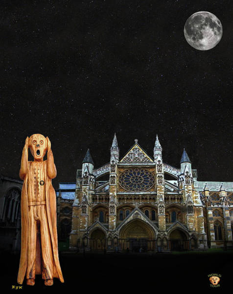Mixed Media - The Scream World Tour Westminster Abbey by Eric Kempson