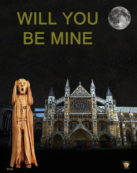 Mixed Media - The Scream World Tour Westminster Abbey Will You Be Mine by Eric Kempson
