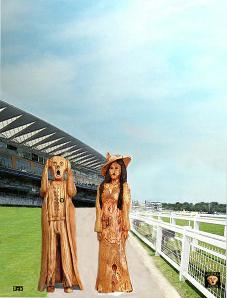 Mixed Media - The Scream World Tour With Fashion Ascot Races by Eric Kempson
