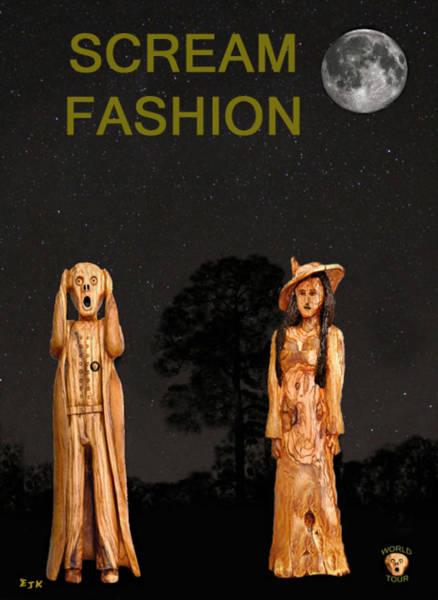 Mixed Media - The Scream World Tour With Fashion Scream Fashion by Eric Kempson