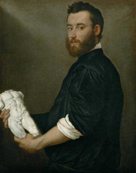 Wall Art - Painting - The Sculptor Alessandro Vittoria by Giovanni Battista Moroni