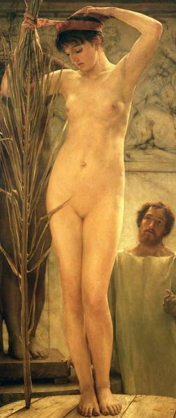 Naked Woman Painting - The Sculptor's Model by Sir Lawrence Alma-Tadema