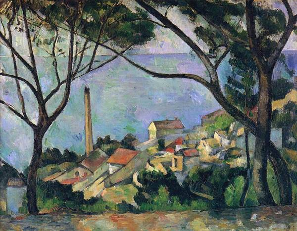 Painting - The Sea At L'estaque by Paul Cezanne
