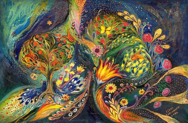 Kaballah Wall Art - Painting - The Sea Garden by Elena Kotliarker
