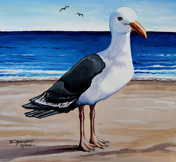 Painting - The Sea Gull by Elizabeth Robinette Tyndall