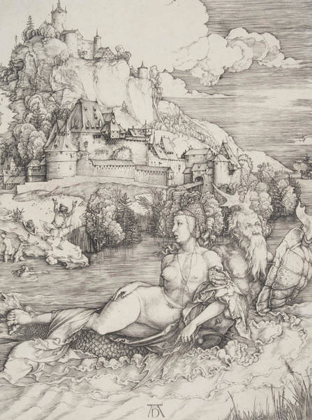 Albrecht Durer Wall Art - Relief - The Sea Monster by Albrecht Durer