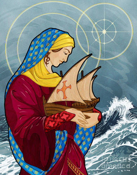 Sailors Digital Art - The Sea Star by Lawrence Klimecki