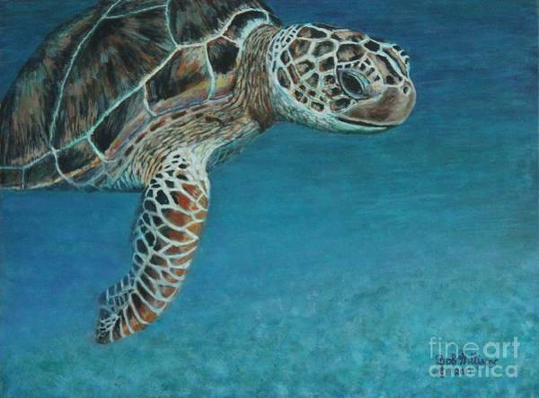 Painting - The Giant Sea Turtle by Bob Williams