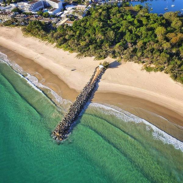 Photograph - The Sea Wall Near Noosa Main Beach by Keiran Lusk