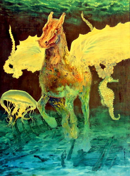 Wall Art - Painting - The Seahorse by Henryk Gorecki