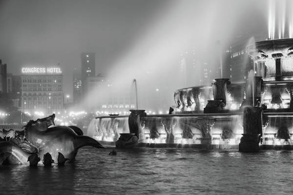 Photograph - The Seahorse Speaks - Buckingham Fountain - Chicago by Scott Campbell