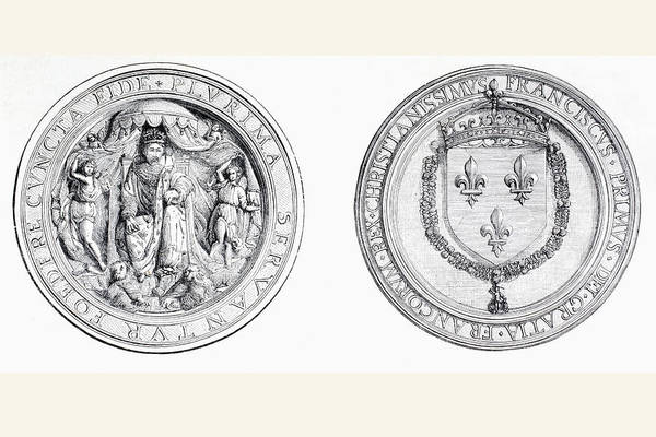 Wall Art - Drawing - The Seal Of Francois I Of France by Vintage Design Pics