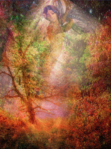 Mother Earth Digital Art - The Seasons Fall by Debra and Dave Vanderlaan