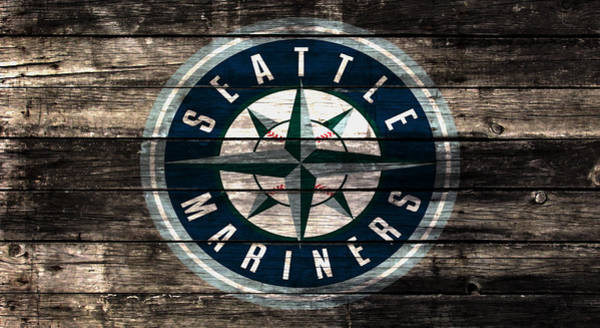 Cactus Mixed Media - The Seattle Mariners 3b by Brian Reaves