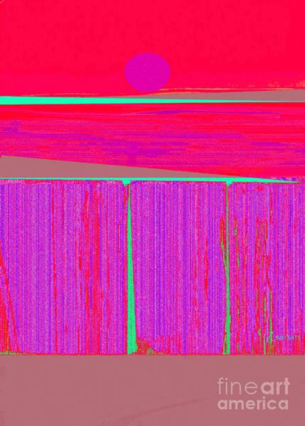 Wall Art - Mixed Media - The Seawalls No.3 Hot Sunset by Zsanan Studio