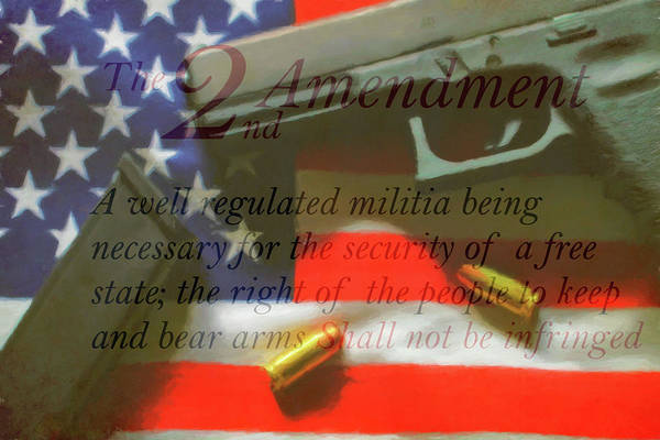 Wall Art - Mixed Media - The Second Amendment by Dan Sproul