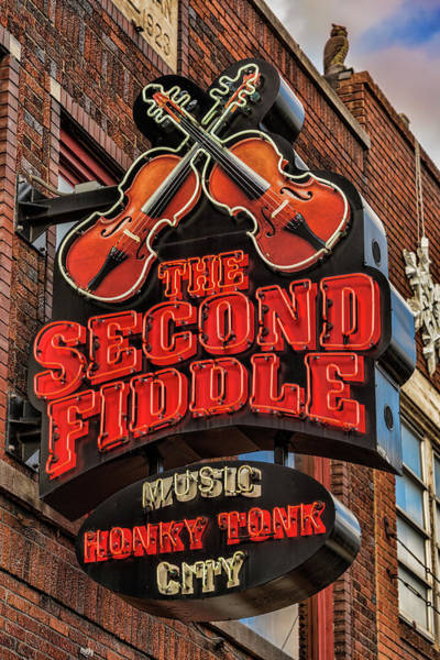 Wall Art - Photograph - The Second Fiddle Nashville by Stephen Stookey