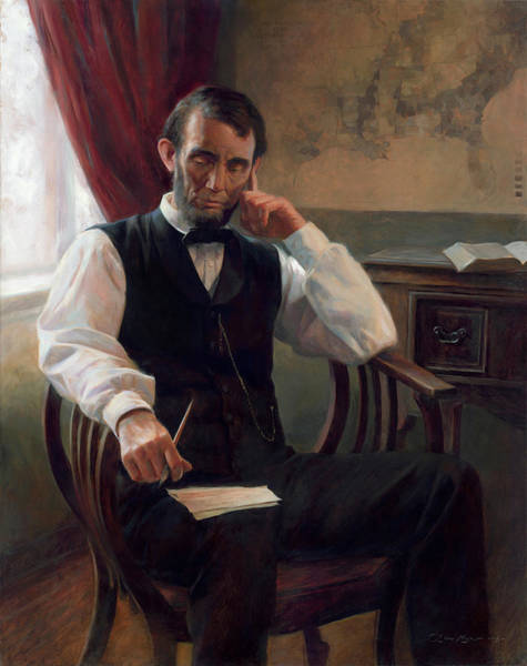United States Presidents Painting - The Second Inaugural Address by Anna Rose Bain